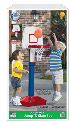 Amazon.com American Plastic Toys Jump N Slam Basketball Set Toys Games