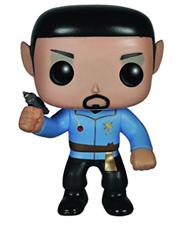 Amazon.com Funko Pop Star Trek Mirror Mirror Spock Pop Vinyl Figure Toys Games