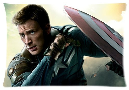 Amazon.com Generic Captain America Chris Evans Custom Zippered Pillow Slip Cotton Polyester Pillow Cases 20x30 Two sides by Customized Pillowcase Home Kitchen