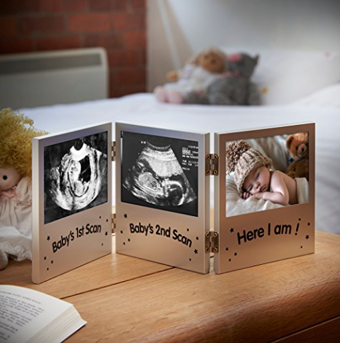 Amazon.com VonHaus Triple Picture Frame for Keepsake Ultrasound Sonogram Images and Baby Photo Baby