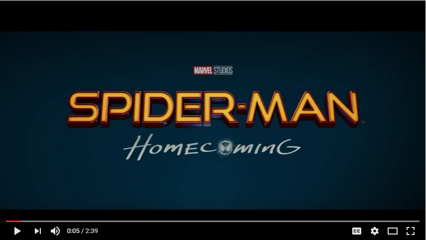 Spider Man Homecoming Trailer 2 YouTube