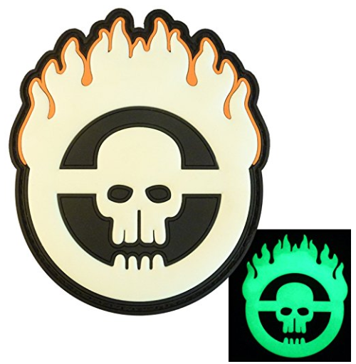 Amazon.com Glow Dark Mad Max Fury Road Skull Flames PVC Rubber 3D Fastener Patch Sports Outdoors
