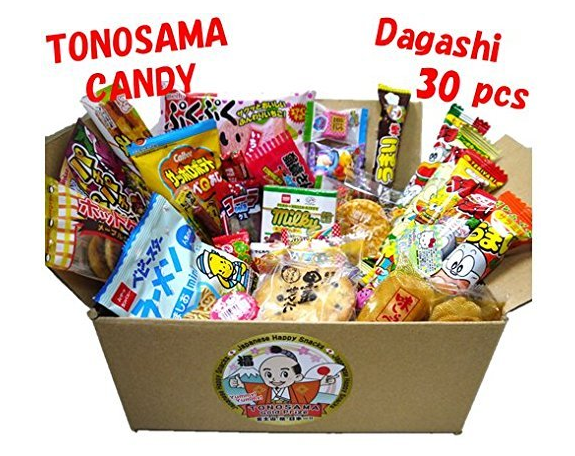 Amazon.com Japanese candy assortment 30pcs full of dagashi. TONOSAMA CANDY