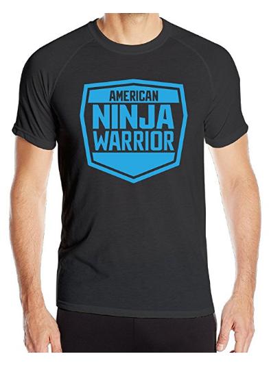 Amazon.com Men s American Ninja Warrior Logo Quick Dry Shirt Black Clothing