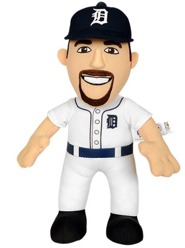 Amazon.com MLB Detroit Tigers Justin Verlander Plush Doll 10 Inch White Sports Fan Toy Figures Sports Outdoors
