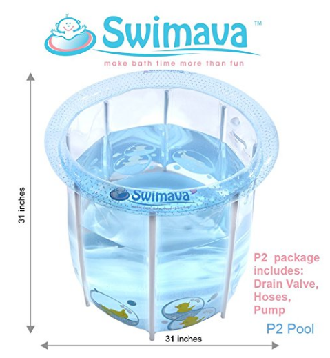 Amazon.com Swimava Compact Bath Tub for Baby and Toddler POOL P2 Small Baby