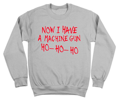 die hard machine gun christmas sweater