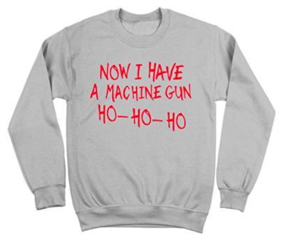 die hard machine gun christmas sweater