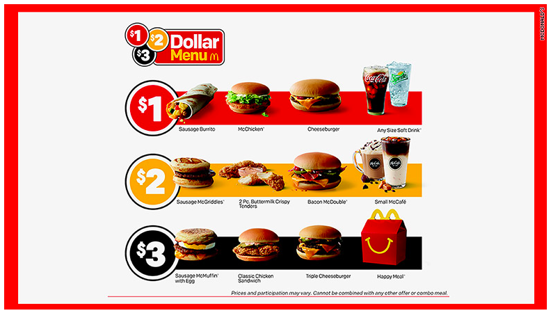 McDonalds new menu