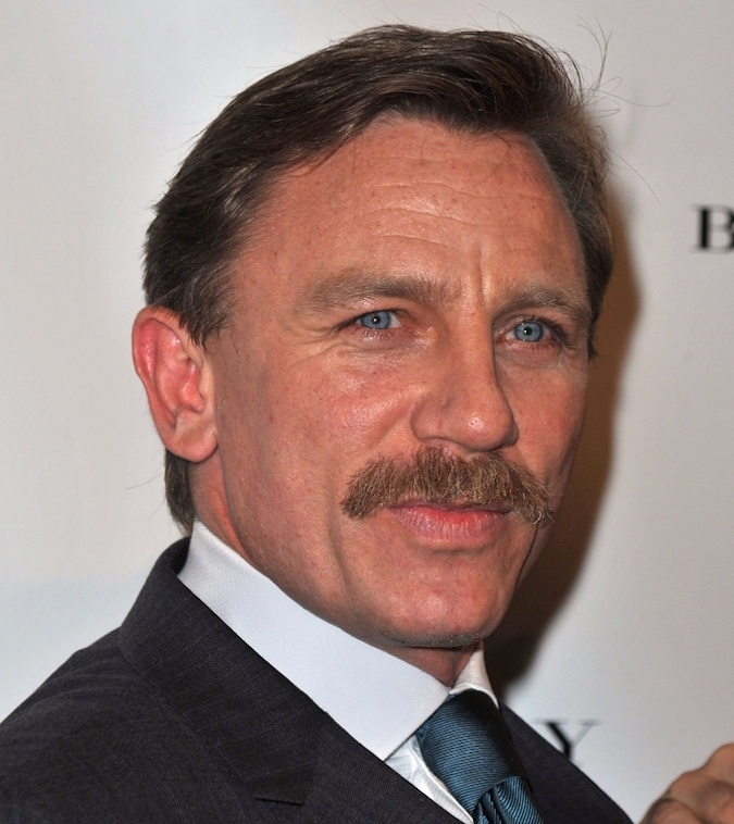 daniel craig mustache